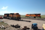 BNSF 8814 - 5752 wrecked a few miles east of Alliance Nebraska