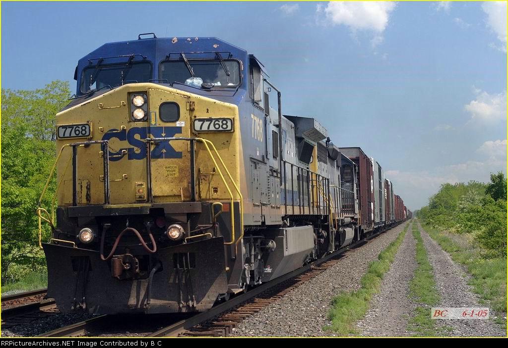 CSX 7768  06/01/2005 Rogerville RD.
