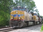 UP 5916 Leads EB Grain Hoppers