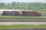 BNSF 7461 & 645