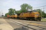 UP 5294 leads the worlds shortest stack train