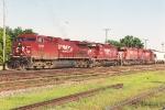 Westbound grain train rolls through University