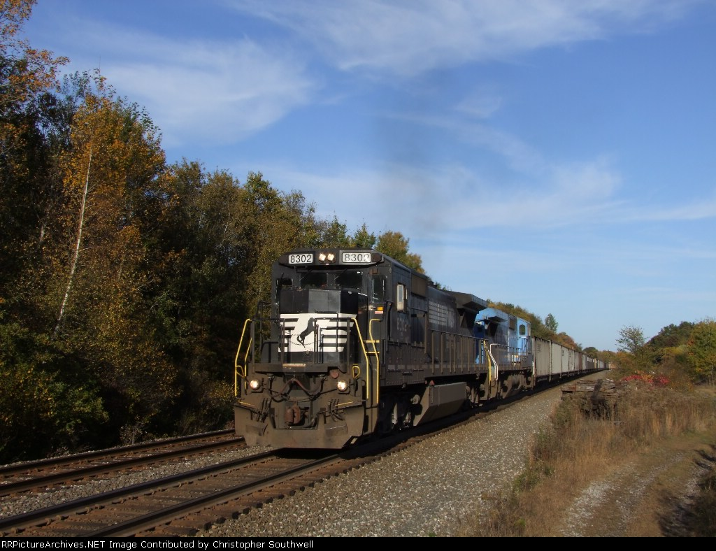 NS 8302 is south of CP52 on the Youngstown line