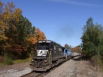 NS 8302 leads westbound hoppers