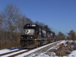 NS 6648 westbound on the WNY&P