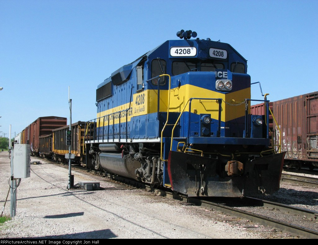 """ICE 4208, next to the """"Z Box"""", switches the east end"""