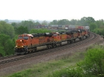 BNSF 7456 makes its run at Edelstein Hill