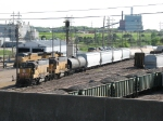 UPY 741 & 644 work the yard as road power sits nearby