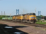 Just into Iowa, UP 5918 WIMNEB-11 towards the yard with 66 ballast cars