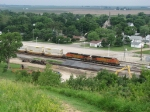 BNSF 4156 & 4982 roll east with double stacks
