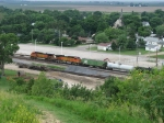 BNSF 4411 West continues on through rural Illinois