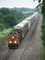 BNSF 1094 leads autoracks westward