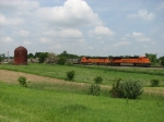 BNSF 9378 & 9985 roll east with coal empties