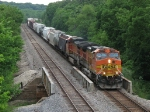 BNSF 5422 & 4635 lug a general freight eastward