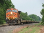 BNSF 4173 waits for another track warrent before heading into Galesburg with an empty windmill parts train