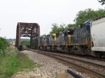 Trains with CSX & NS power near a meet on the BNSF