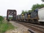 Trains with CSX & NS power near a meet on the BNSF