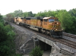BNSF 8930 & 9920 roll west early in the morning with Wisconsin Electric empties