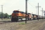 Parked westbound grain train