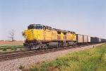 Westbound coal empties pause