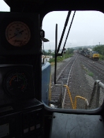 We are on Q418 on the northern brach's #2 track waiting for this Q433 to clear us on its way to Oak Island so we can cross over and go up #1