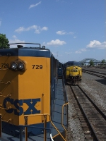 On the second engine of my Q434 having S433 come off the bridge and into the yard alongside me