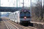 "ALP-44 # 4409 leads NYC bound ACES ""Gambler's Express"" train from Atlantic City"