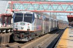 "Northbound ACES ""Gamblers Express"" train had this ex-Amtrak P40 on the rear"