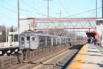 Seemingly a typical NJ Transit MU set, this was actually borrowed by Amtrak for use on the Thanksgiving weekend holiday rush