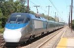 South end of the northbound ACELA express as it continues north to NY and eventually Boston