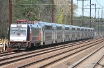 The modern face of NJ Transit:  An ALP-46 Locomotive and a string of new bilevel coaches