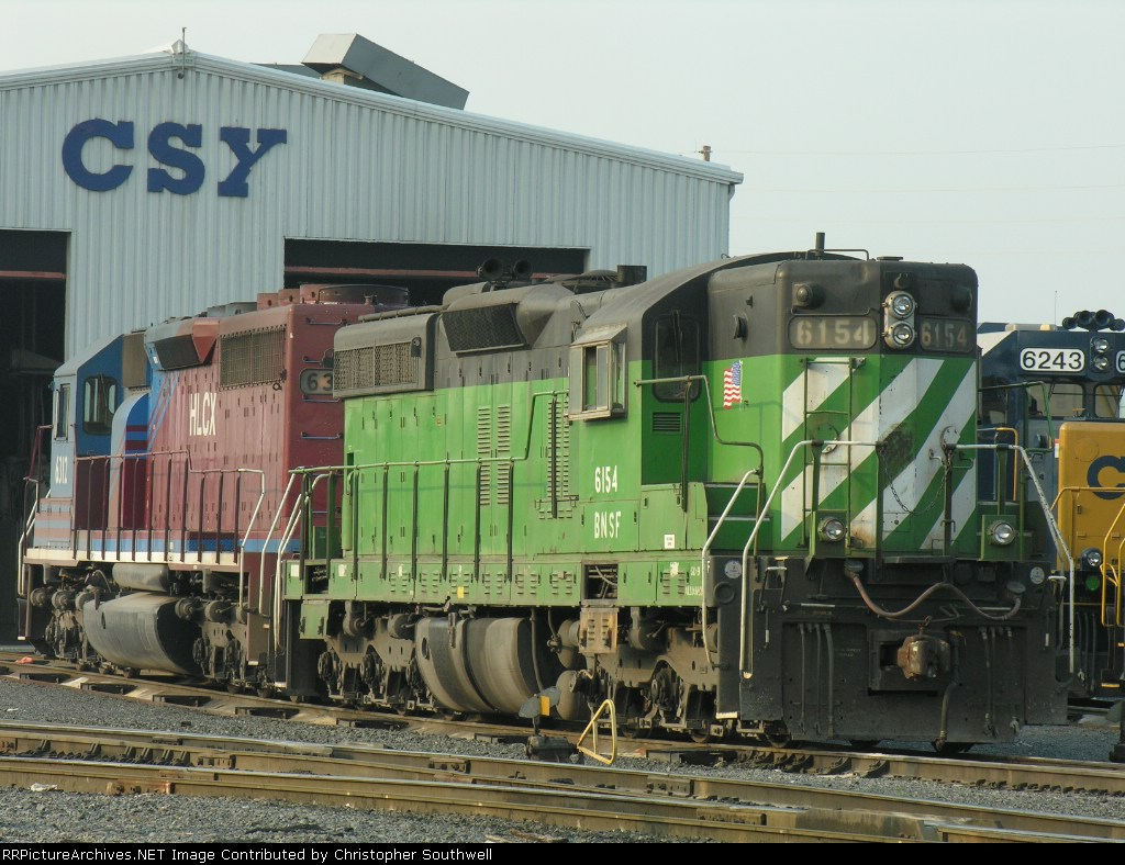 BNSF 6154 at the fuel plant