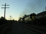 Westbound engines going away at Game Farm road