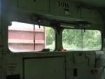 Inside the cab of GP30 3016