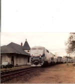 Eastbound Sunset Limited passing the old SP passenger station - circa 2003