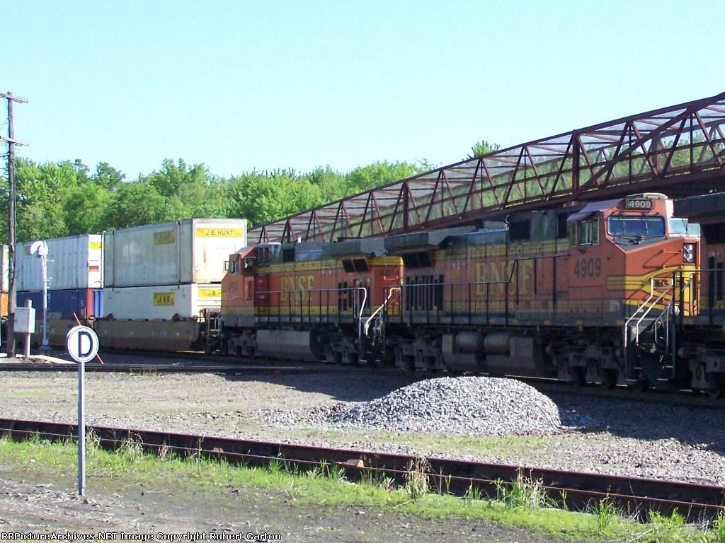 One-half of the Power on an Intermodal Train
