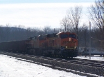 First Time on this Site: BNSF 6285 Leading a Train of Empty Hoppers