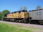 UP 7274 Gives a Push on an Empty Coal Train