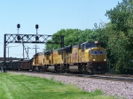 Mixed EMD Power on a Freight Train
