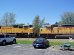 Old EMD Power and Newer EMD Power Meet on a Freight Train