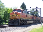 A Trio of BNSF Dash-9s Rumble Over the UP Diamond