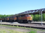 A Quartet of Dash-9Ws Lead a Westbound Doublestack Train on the BNSF's Aurora Subdivision