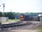ATSF 631 Brings a Mixed Freight Manifest Train Around the Curve and Into View