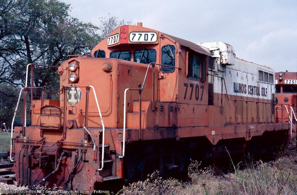 Illinois Central Gulf GP8 #7707