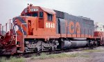 Illinois Central Gulf SD40-2 #6048 in East Thomas Yard