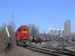 CP 7310 with a cyclops headlight switches the south end of kenwood yard