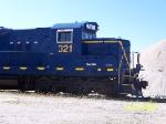 SM 321 Nose detail of Gravel yard engine