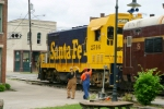 ATSF 2546 pushes the passenger cars back toward the shop area where L&N 152 will hook to them 5/25/09