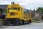 ATSF 2546 passes the Museum and replica New Haven Depot 5/25/09