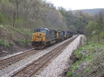 CSX 5106 leading the bunch somewhere; up the east slope of Sand Patch.